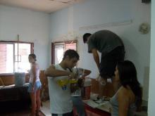 Servicio en la Escuela de Barrio Tío Rolo