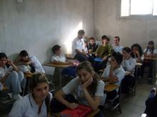 Charla en el Colegio Aristóbulo Del Valle