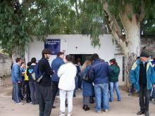 Trabajo de encuesta en Cortada Mangrullo
